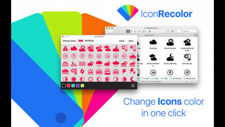 IconRecolor for Mac - review, screenshots