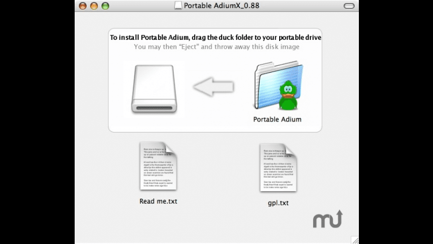 Portable Adium for Mac - review, screenshots