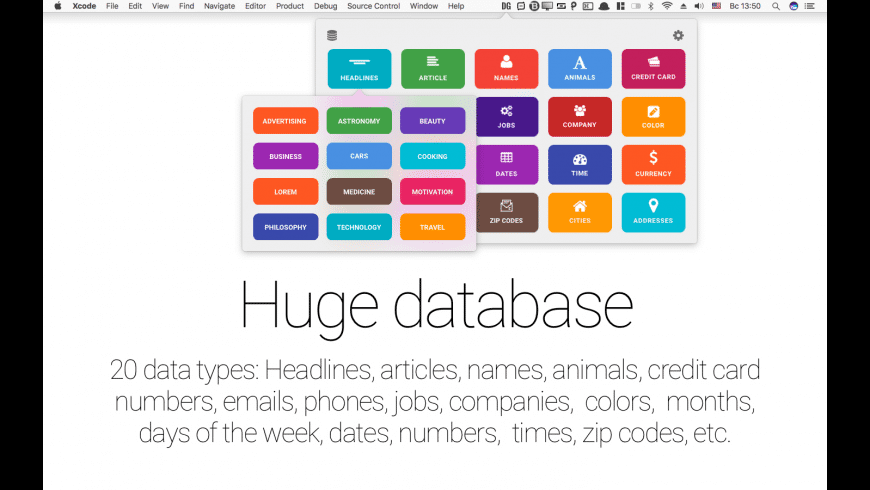 Data Generator for Mac - review, screenshots