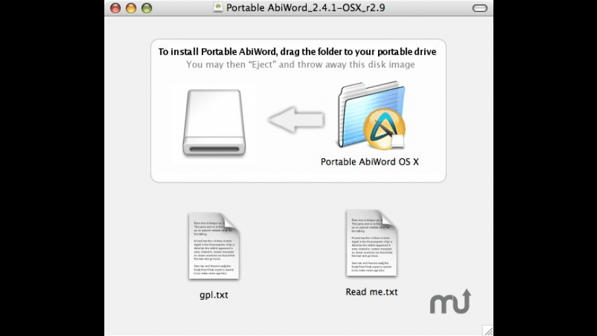 Portable AbiWord for Mac - review, screenshots