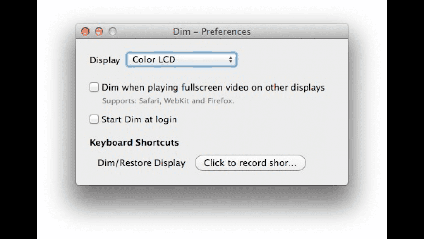 Dim for Mac - review, screenshots