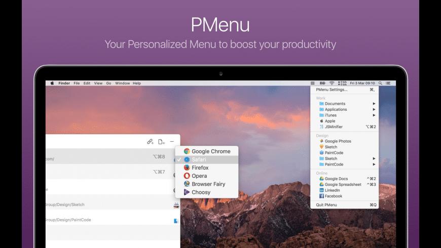 PMenu for Mac - review, screenshots