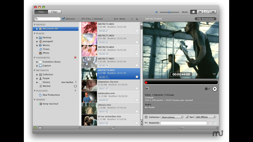 Frameline 47 for Mac - review, screenshots
