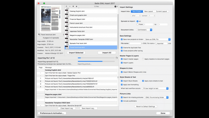 Badia IDML Import for Mac - review, screenshots