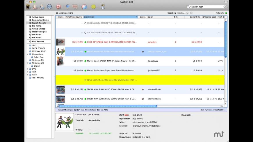 Auction Hunter for Mac - review, screenshots