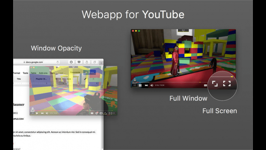 Webapp for YouTube for Mac - review, screenshots