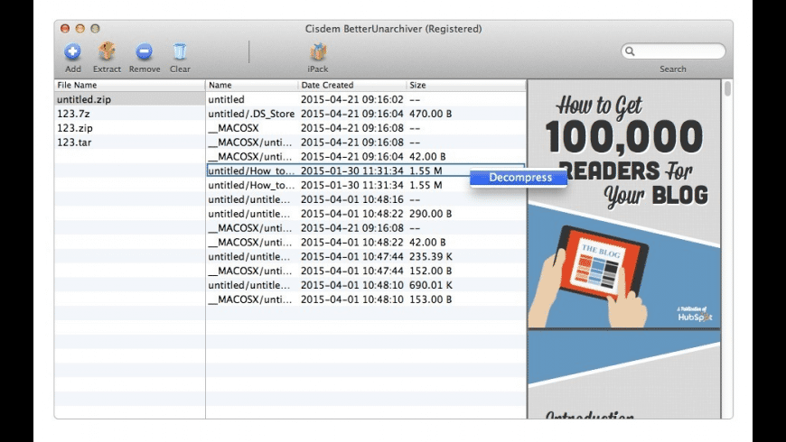 Cisdem BetterUnarchiver for Mac - review, screenshots