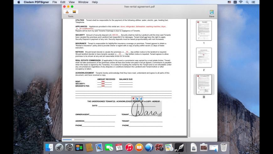 Cisdem PDFSigner for Mac - review, screenshots