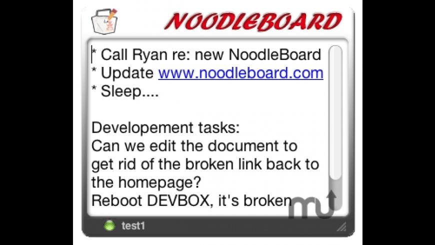 NoodleBoard for Mac - review, screenshots