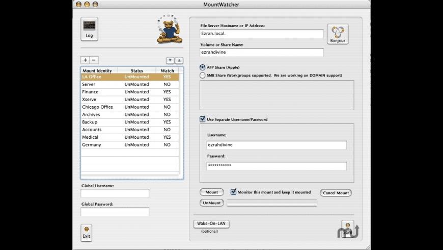 MountWatcher for Mac - review, screenshots