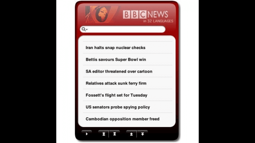 BBC News Widget + Sports for Mac - review, screenshots