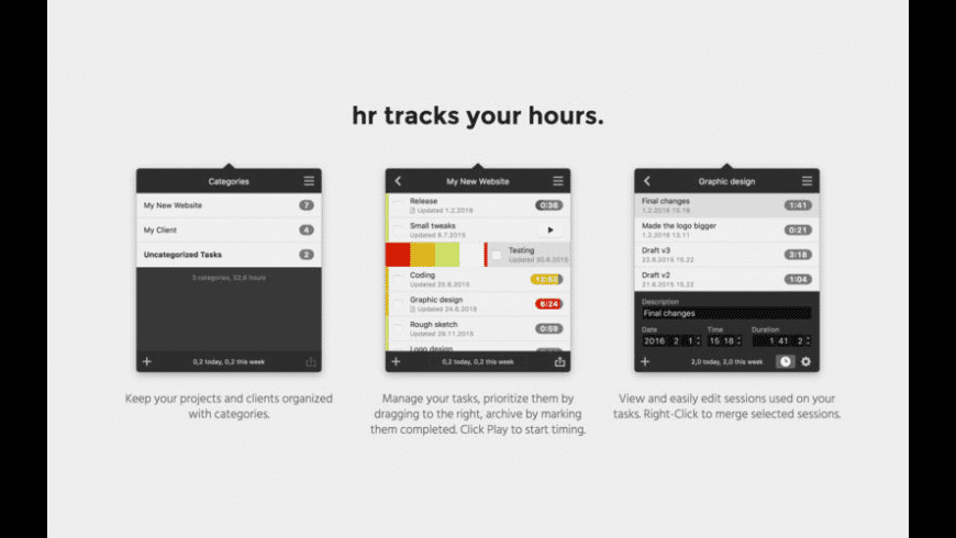 hr for Mac - review, screenshots