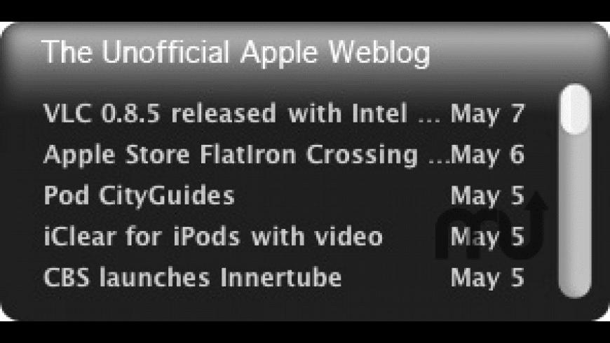 TUAW RSS Widget for Mac - review, screenshots