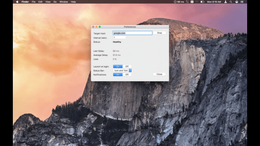 PingStatus for Mac - review, screenshots