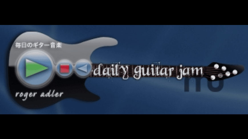 Daily Guitar Jam Widget for Mac - review, screenshots