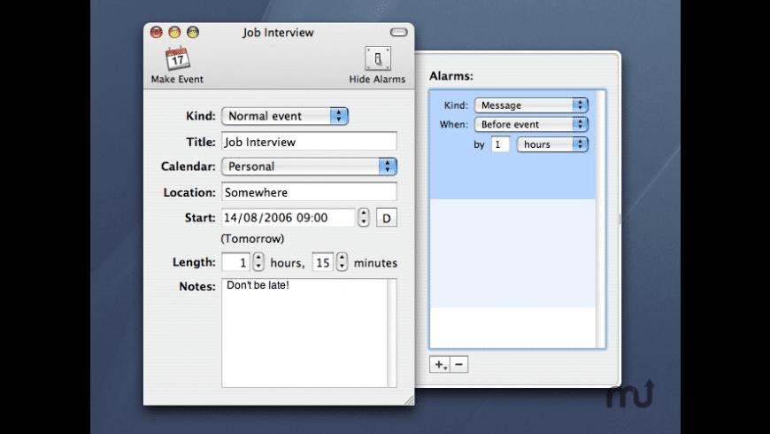 Event Maker for Mac - review, screenshots
