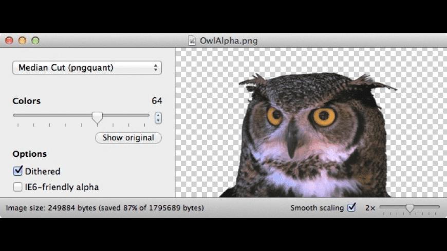 ImageAlpha for Mac - review, screenshots