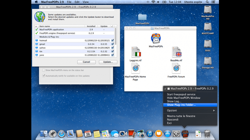 MacFreePOPs for Mac - review, screenshots