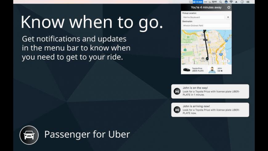 Passenger for Uber for Mac - review, screenshots