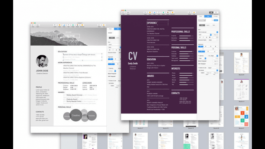 resume  u0026 cv expert for mac
