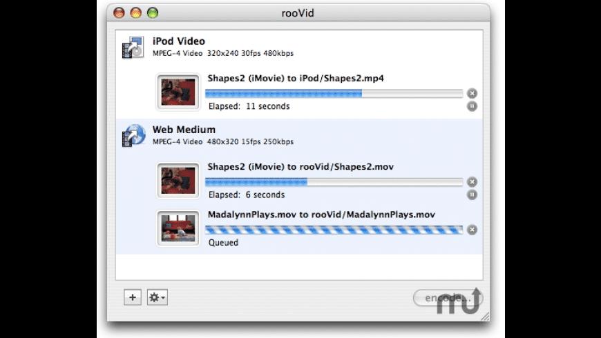 rooVid Lite for Mac - review, screenshots