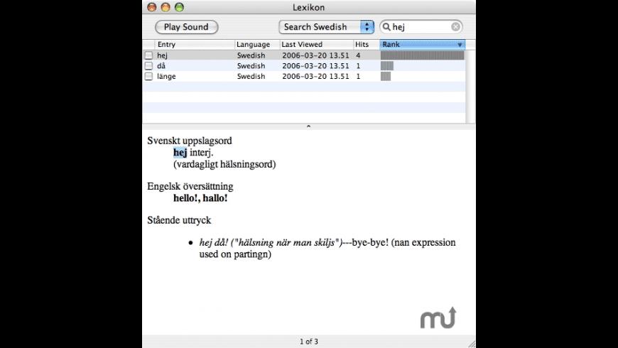 Lexikon for Mac - review, screenshots