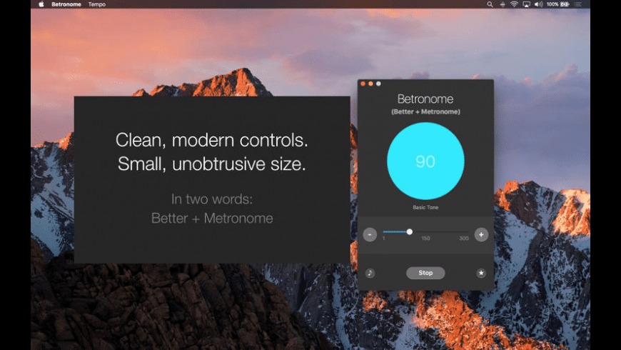 Betronome for Mac - review, screenshots