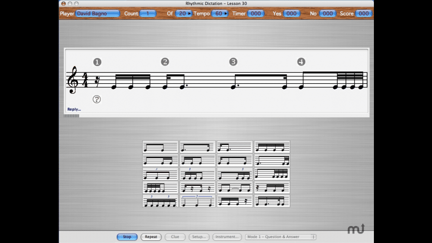 Rhythmic Dictation for Mac - review, screenshots