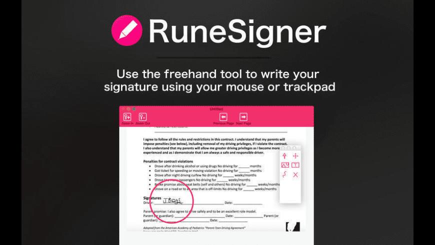 RuneSigner for Mac - review, screenshots