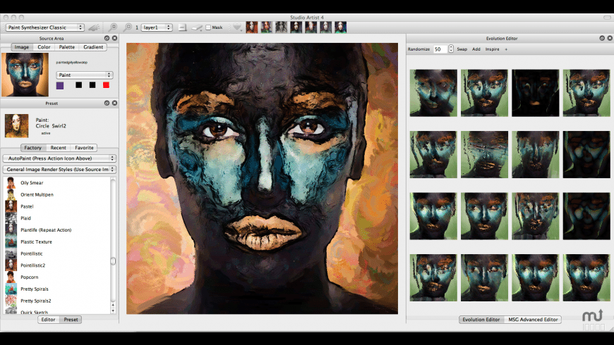Studio Artist for Mac - review, screenshots