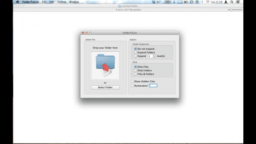 FolderToList for Mac - review, screenshots