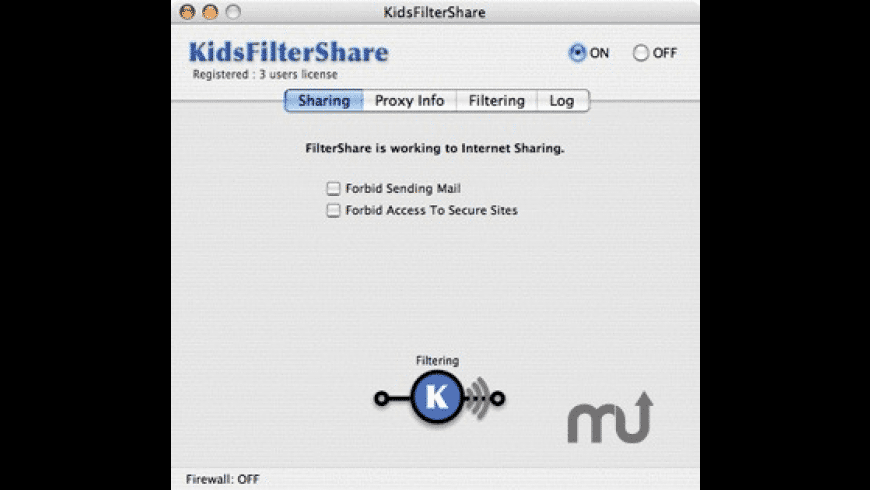 KidsFilterShare for Mac - review, screenshots