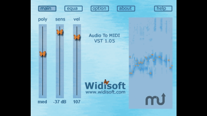 Audio To MIDI VST for Mac - review, screenshots