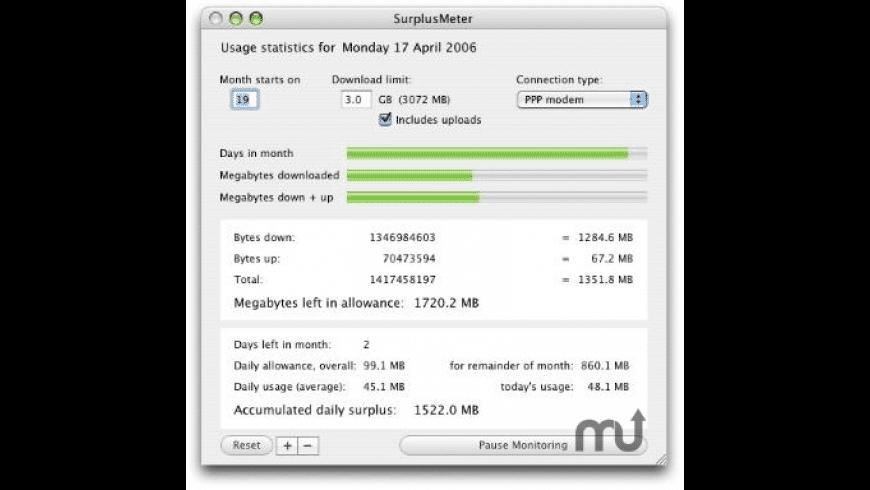SurplusMeter for Mac - review, screenshots
