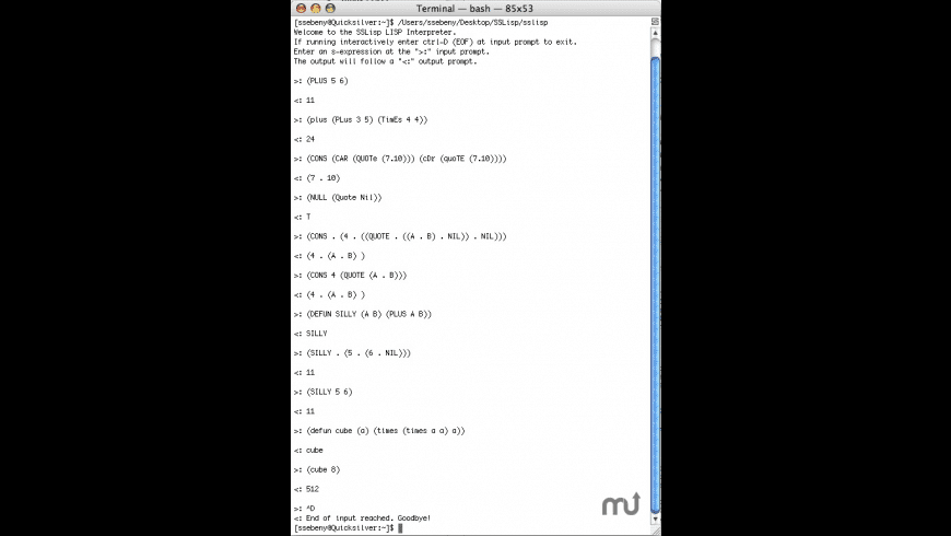 SSLisp for Mac - review, screenshots