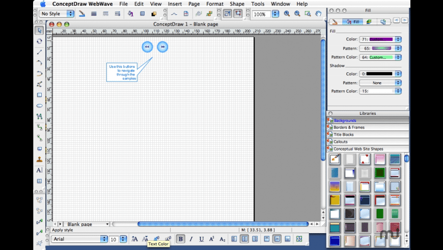 ConceptDraw WebWave for Mac - review, screenshots