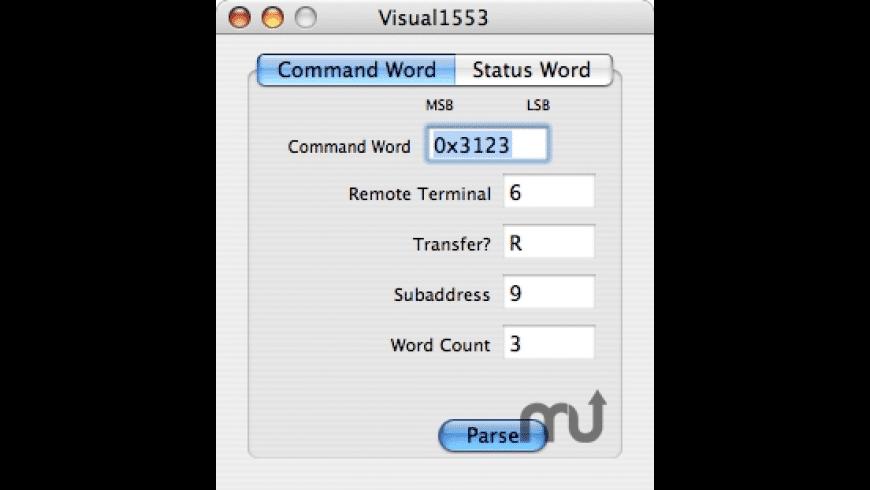 Visual1553 for Mac - review, screenshots