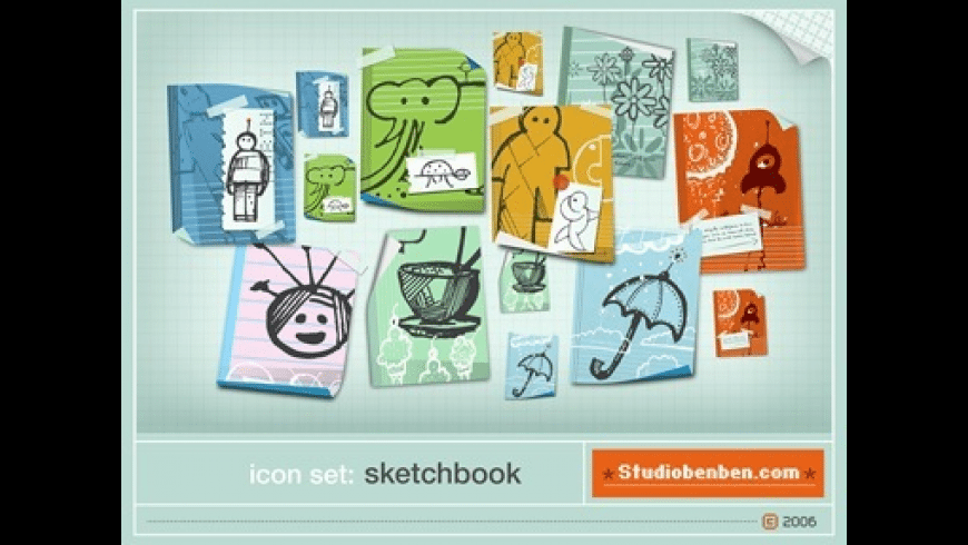 Sketchbook Icons for Mac - review, screenshots