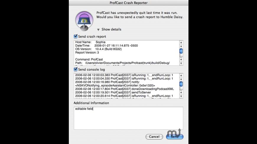 HDCrashReporter for Mac - review, screenshots