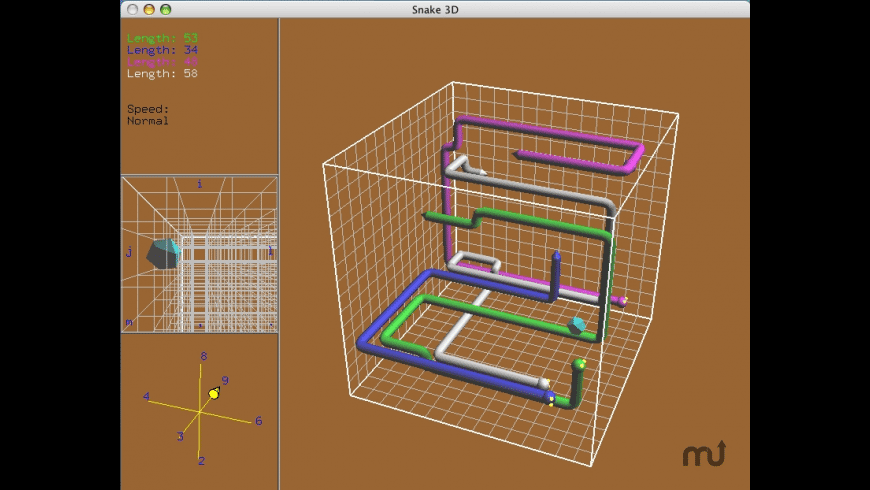 snake3d for Mac - review, screenshots