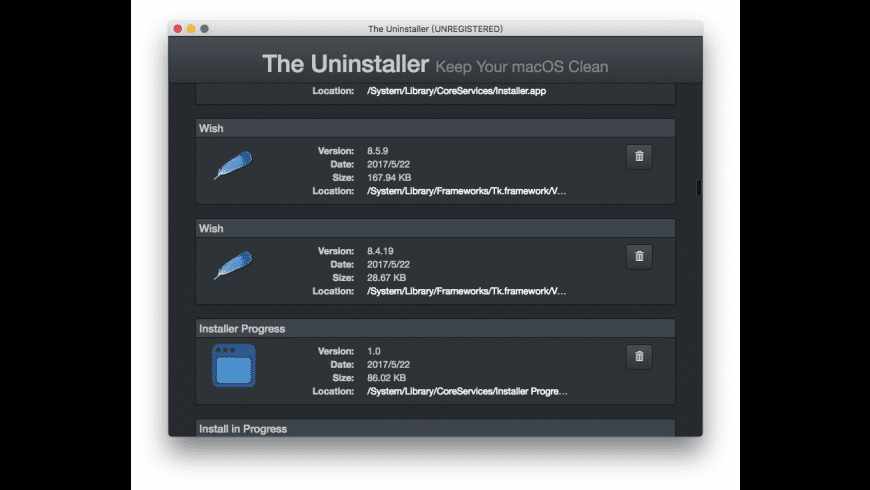 The Uninstaller for Mac - review, screenshots