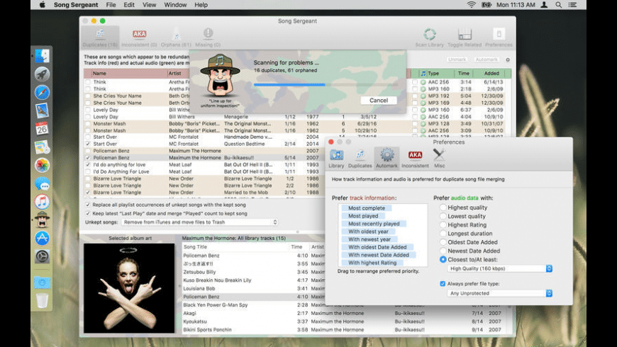 Song Sergeant for Mac - review, screenshots