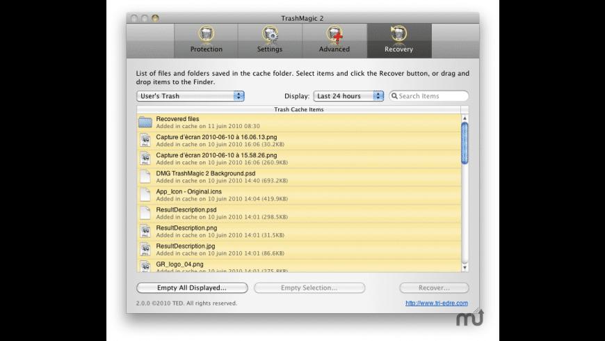 TrashMagic for Mac - review, screenshots