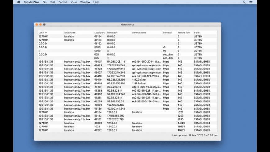 NetstatPlus for Mac - review, screenshots