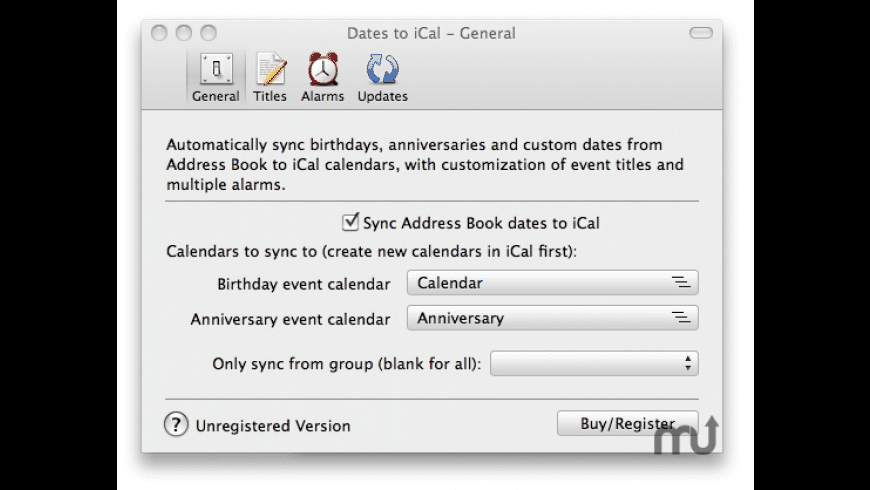 Dates to iCal for Mac - review, screenshots