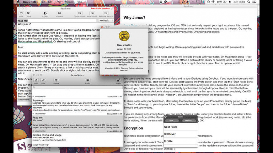 Janus Notes for Mac - review, screenshots