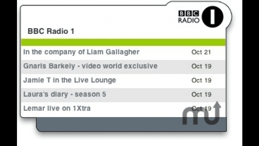 BBC Radio 1 for Mac - review, screenshots