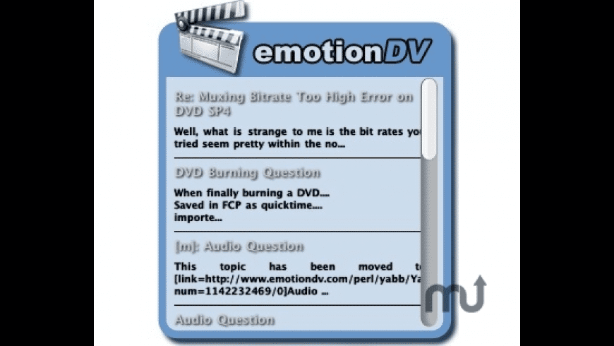 emotionDV for Mac - review, screenshots