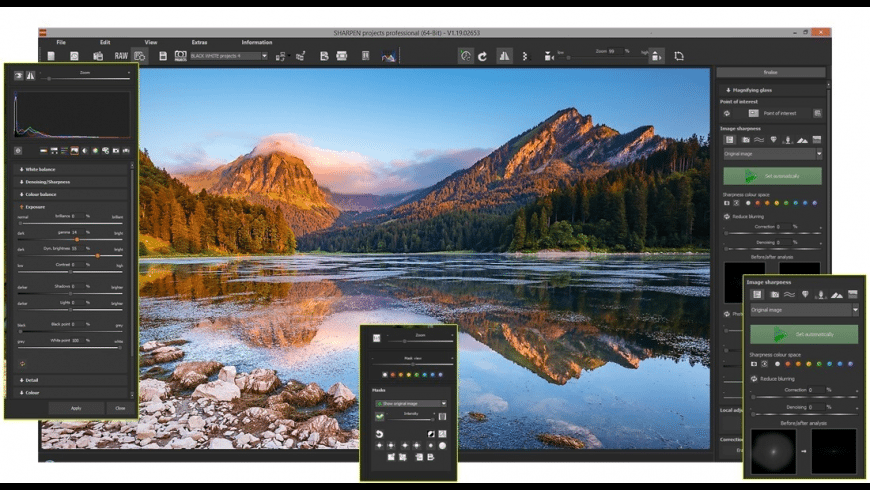 SHARPEN projects professional for Mac - review, screenshots
