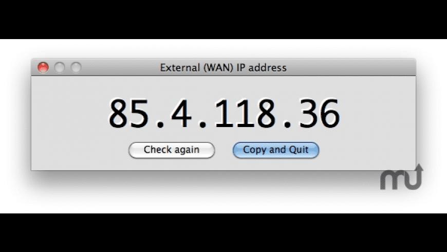 getWANip for Mac - review, screenshots